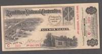 1896 REPUBLICAN NATIONAL CONVENTION TICKET, GEM CONDITION. THIRD DAY, THIRD SESS