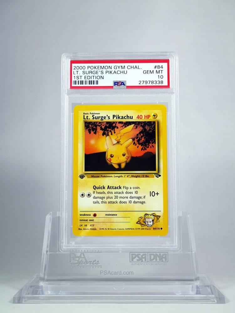 Common SURGE'S PIKACHU NM 1st Edition Gym Challenge 84//132 LT Pokemon