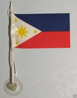 Philippines MiniPole Car / Window Flag NEW