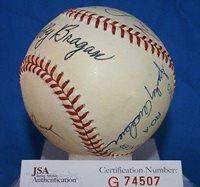 Dick Williams Signed Baseball - Bragan Lasorda Mauch Anderson - JSA Certified - Autographed Baseballs