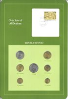 COINS OF ALL NATIONS - PERU - 7 COIN SET -1985-1988 (COAN 1)