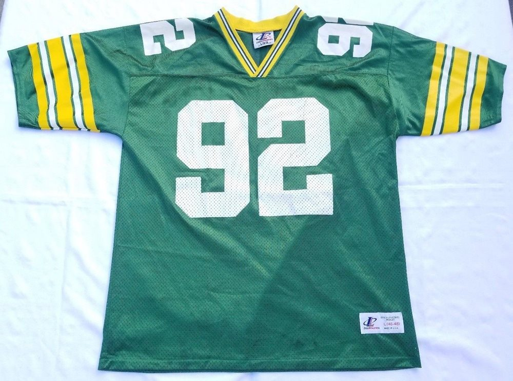 fc4b21718 Reggie White Green Bay Packers NFL jersey men sz L (46-