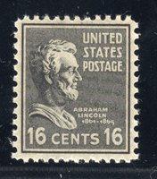 US STAMP #821 — 16c PREXIE — VF -- MINT — GRADED 80
