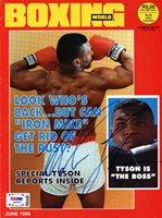 Mike Tyson Autographed Boxing World Magazine Cover Vintage PSA/DNA #Q65526Mike Tyson Autographed Boxing World Magazine Cover Vintage PSA/DNA #Q65526