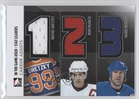 Wayne Gretzky; Ron Francis; Mark Messier #/60 (Hockey Card) 2013-14 In the Game-Used Stat Leaders Silver #SL-02