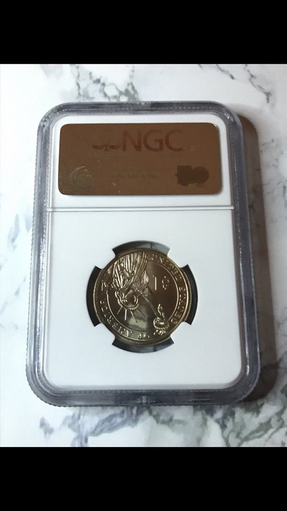 2008 $1 Andrew Jackson Presidential Dollar MS 66 NGC Missing Edge Lettering