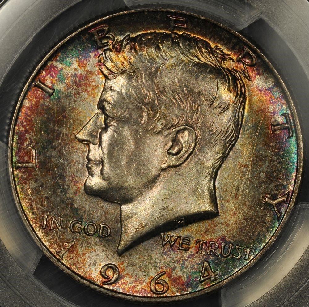 1964-P Kennedy Silver Half Dollars Lustrous BU Gems