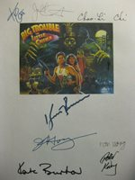 Big Trouble in Little China Signed Script Kurt Russell Kim Cattrall James Hong