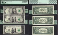 $1 1988-A FRN=ERROR=3 CONSEC=SOLVENT SMEAR=WATERY=ON WEB=8/8=PCGS CH.NEW 63 PPQ