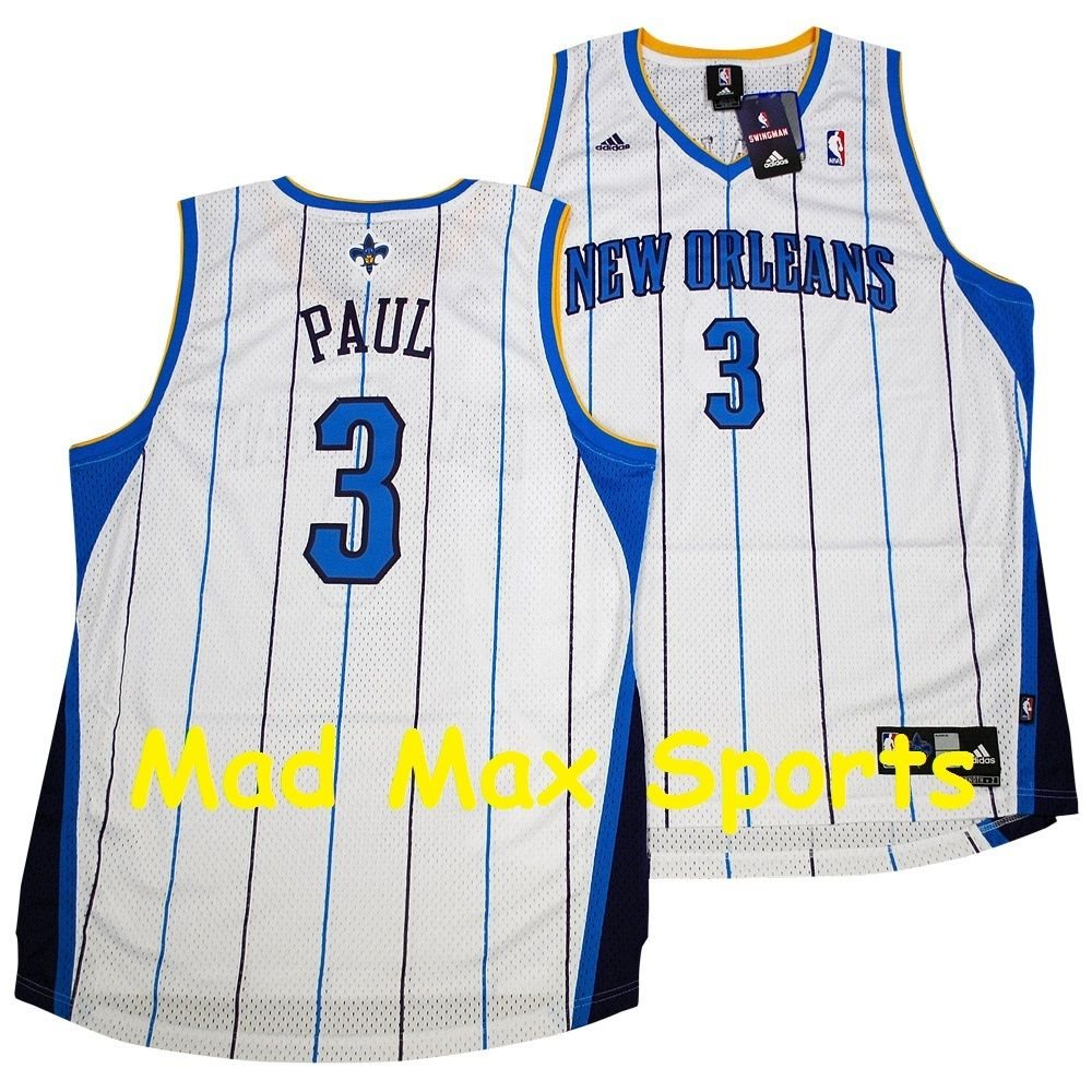 the latest 33bc1 0e945 CHRIS PAUL New Orleans HORNETS White THROWBACK Swingman CP3 Clippers Jersey  XXL