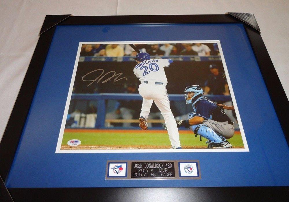 online retailer 4d9d4 0c25c Josh Donaldson Autographed Signed Toronto Blue Jays Framed Autograph 11x14  Photo Memorabilia PSA/DNA COACUSTOM FRAME YOUR JERSEY