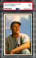 1953 Bowman Color #24 Jackie Jensen PSA 7