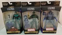 Lot of 3 Marvel Legends Figures ~ Yon-Rogg ~ Genis-Vell ~ Grey Gargoyle UNOPENED