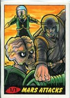 Mars Attacks Heritage Sketch Card By Rich Molinelli