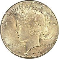 1935 $1 PCGS MS66