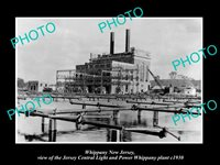 OLD 8x6 HISTORIC PHOTO OF WHIPPANY NEW JERSEY THE JERSEY POWER Co PLANT c1930