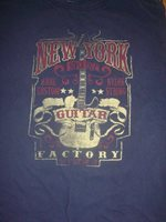 Ultra-Cool New York Guitar Factory T-Shirt, Size Large, Good Condition!