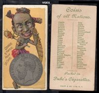 1889 Duke N72 coins of all nations (Non-Sports) Card# 11 congo VGX Condition