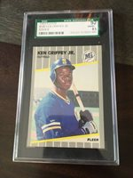 74cb00a3a6 Ken Griffey Jr. 1989 Fleer Rookie Card Graded SGC 92 / 8.5