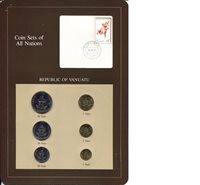 Vanuatu 1-50 Vatu 1983 UNC (Board may have some wear)Other Coin Sets of All 6 Coins presented on a board with stamp (only 1 in stock) Varies Coin Varies