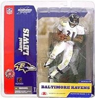McFarlane Toys NFL Baltimore Ravens Sports Picks Series 8 Jamal Lewis Action Figure [White Jersey Variant]
