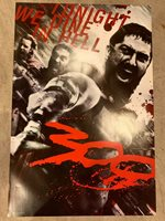 """300 movie poster- Spartans, """"Tonight We Dine in Hell"""" 24""""x36"""""""