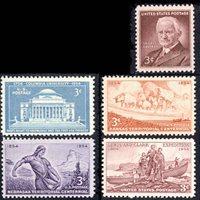 1954 US Commemorative Stamp Year Set; 1029, 1060-3