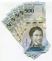 Venezuela P94 2017 500 Bolivares UNC Banknote Money x 5 Sequential Note Lot