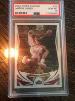 Pristine 2004 LeBron James Topps Chrome 2d year card #23 PSA 10 Gem Mint BGS MVP