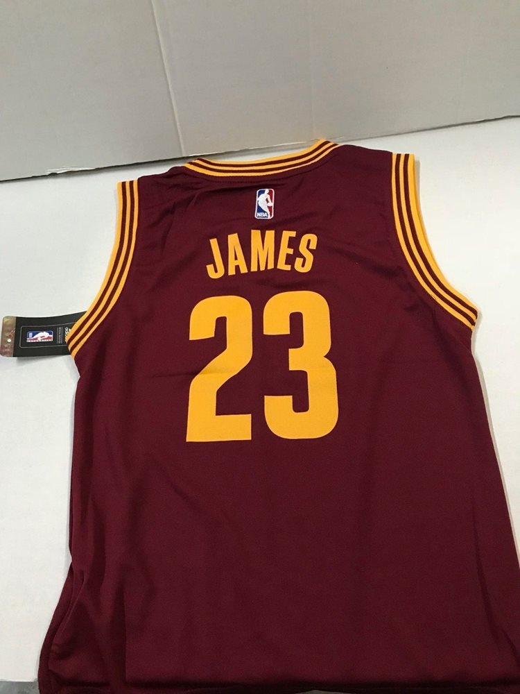 online retailer 86504 2f05e NBA CLEVELAND CAVALIERS JAMES # 23 YOUTH ADIDAS JERSEY MEDIUM