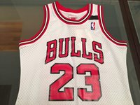 half off 4d842 2917b Authentic Chicago Bulls Mitchell and Ness Michael Jordan Jersey 91-92 Small  S 36