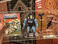 Battle Armor Skeletor Loose With Comic Certified CAS 80 1984 Vintage Toy