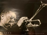Dizzy Gillespie Black And White Jazz Poster 24 X 33.75""