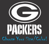 c6fc5bd12a6 Green Bay Packers Football Vinyl Decal Sticker for NFL