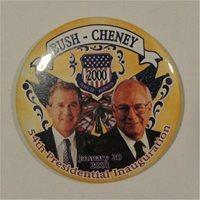 Bush Cheney Yellow 55th Presidential Inauguration Campaign Button