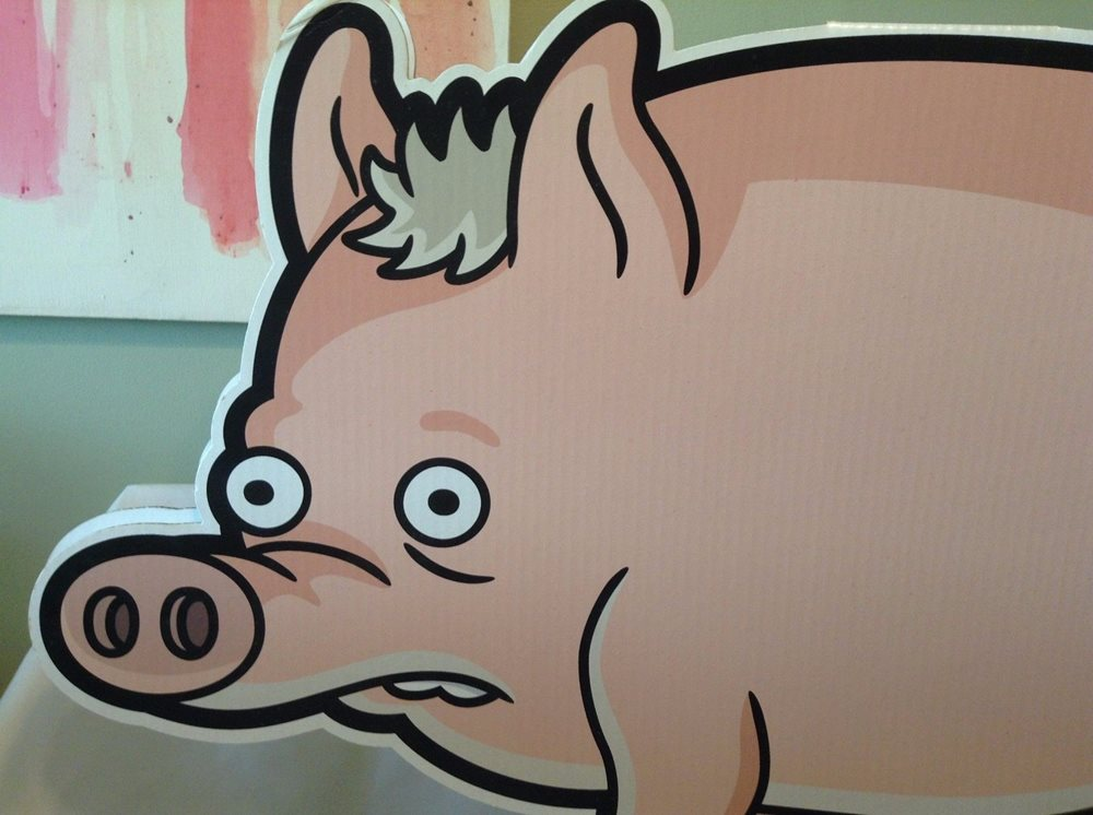 The Simpsons Movie Spider Pig Cardboard Cutout Promo Dv