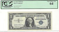 1957-B FR-1621 Silver Certificate Q-A block PCGS 64 Very Choice New