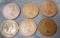 UK Old Coin One Penny Elizabeth II 1964