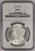 1879 S Morgan Dollar NGC MS63