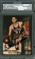 Bill Sharman Autographed Trading Card 1993 Action Packed HOF - PSA/DNA Authentic Signed Autograph