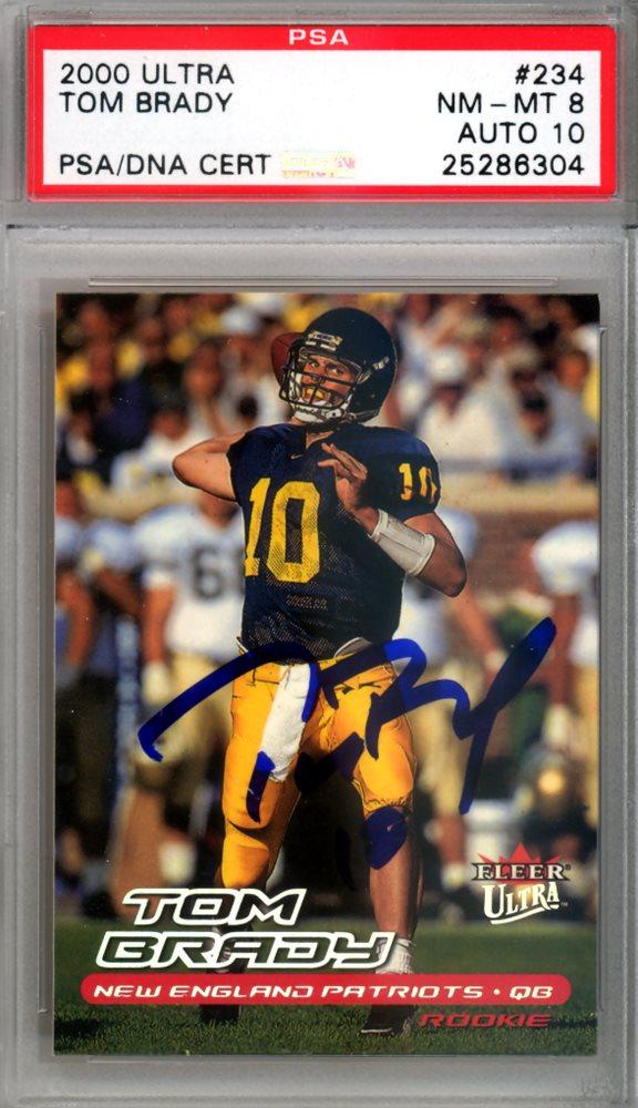 Tom Brady Autographed 2000 Ultra Rookie Card  234 New E bf8a0a57e
