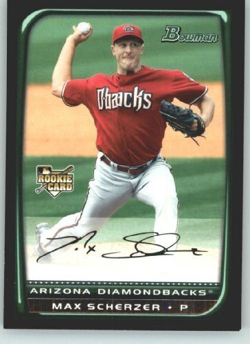 2008 Bowman Draft Baseball Cards Bdp33 Max Scherzer Rc Rookie Card Arizona Diamondbacks Mlb Baseball Trading Card
