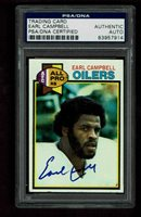 EARL CAMPBELL Signed 1979 TOPPS RC Card #390 AUTOGRAPGHED PSA/DNA