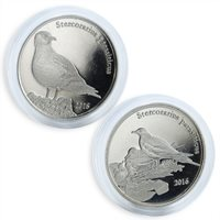Shetland Islands, 1 pound, set of 2 coins, Stercorarius parasiticus, 2016