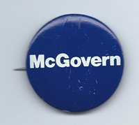 George McGovern Pushback Pin - 1972 Presidential Campaign