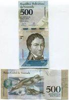 Venezuela P94 2017 500 Bolivares UNC Sequentially Numbered Banknote Money