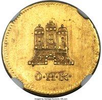 Certified HAMBURG: Free City, GOLD PATTERN! Schilling, 1778 OHK NGC MS62 GERMANY