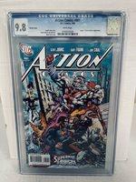 SUPERMAN ACTION COMICS #861 MIKE GRELL VARIANT COVER CGC 9.8 NM/MT DC COMICS