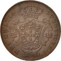 Azores, 5 Reis, 1880, Copper, KM:13