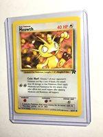 Pokemon Card MEOWTH Unlimited Team Rocket Set Common 62//82 NM